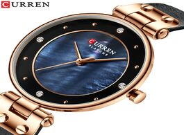 Foto van: Horloge curren women watches reloj mujer top brand luxury leather strap wristwatch for blue clock st