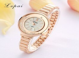 Foto van: Horloge lvpai lady brand luxury fashion crystal rose gold watches quartz wristwatches women silver l