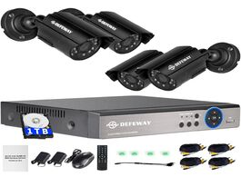 Foto van: Beveiliging en bescherming defeway 1080n dvr 1200tvl 720p hd outdoor security camera system 1tb hard