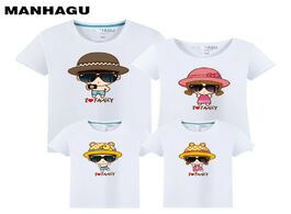 Foto van: Baby peuter benodigdheden manhagu family clothing outfits fashion print summer short sleeve t shirt