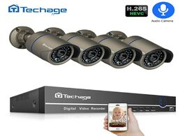 Foto van: Beveiliging en bescherming h.265 poe security camera system 4ch 1080p nvr kit 2.0mp audio microphone