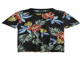 Foto van: Heren leaf pattern leisure short sleeves t shirt
